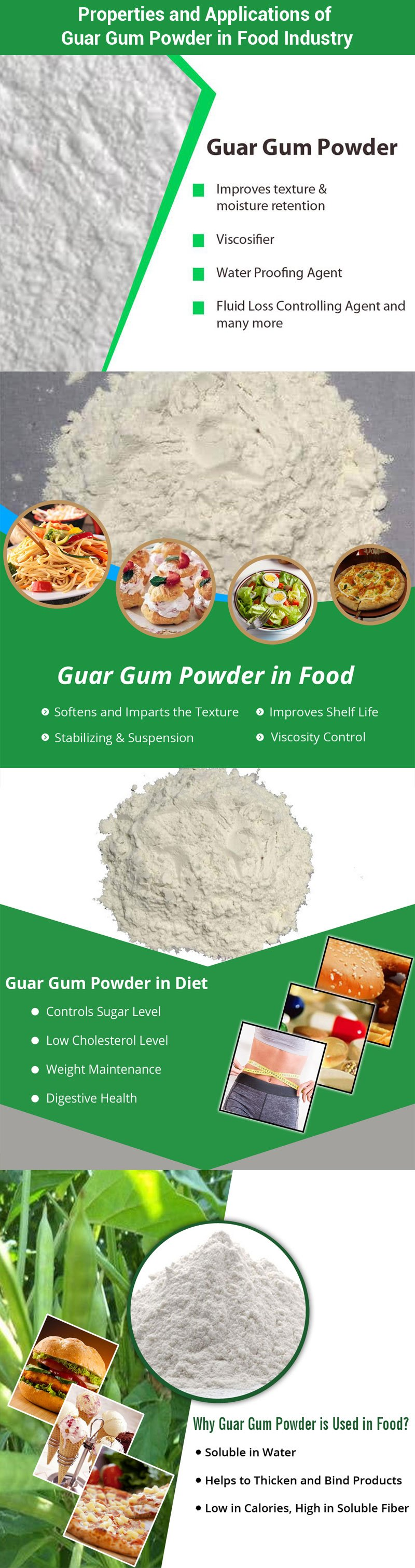 Guar Gum Powder for Food Industry