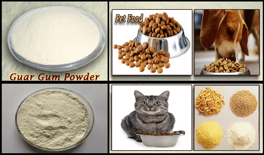 Guar gum is the most commonly used thickener in the pet food industry
